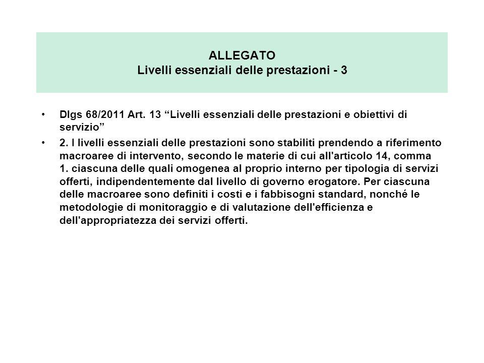 ALLEGATO Livelli essenziali delle prestazioni - 3