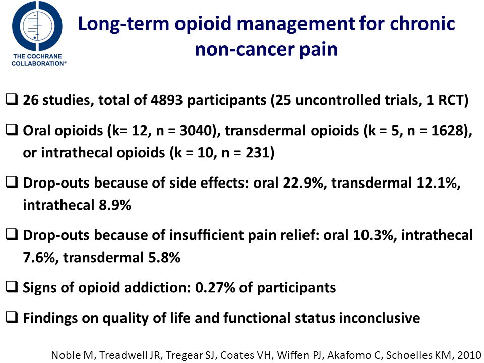 Long-term opioid management for chronic non-cancer pain