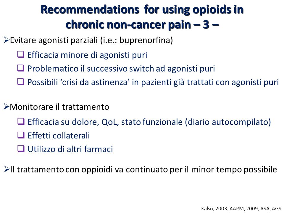 Recommendations for using opioids in chronic non-cancer pain – 3 –