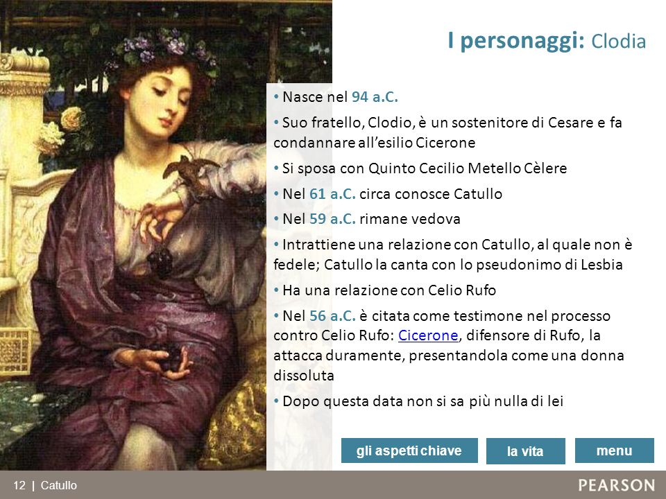 I personaggi: Clodia Nasce nel 94 a.C.