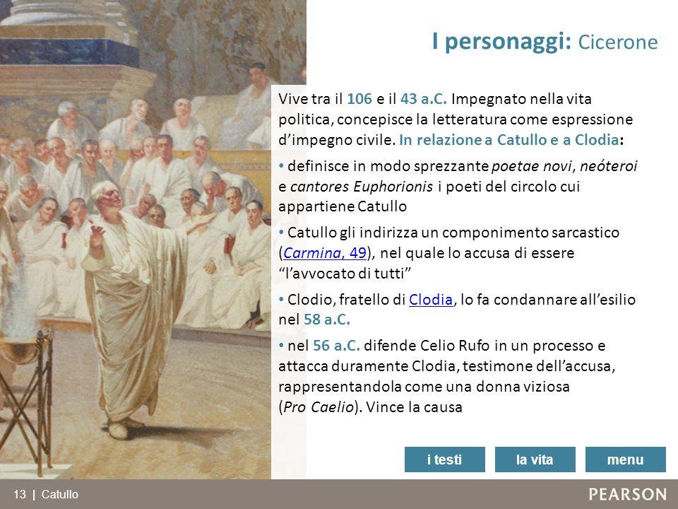 I personaggi: Cicerone