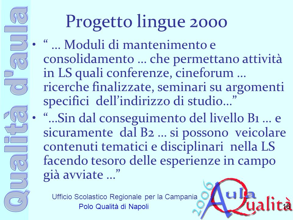 Progetto lingue 2000
