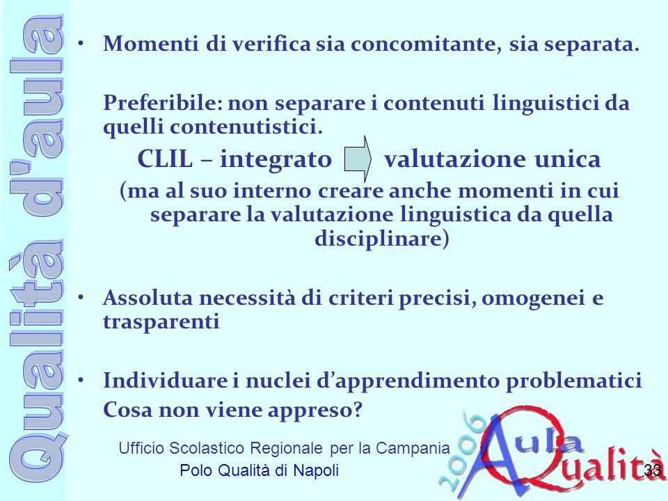 CLIL – integrato valutazione unica