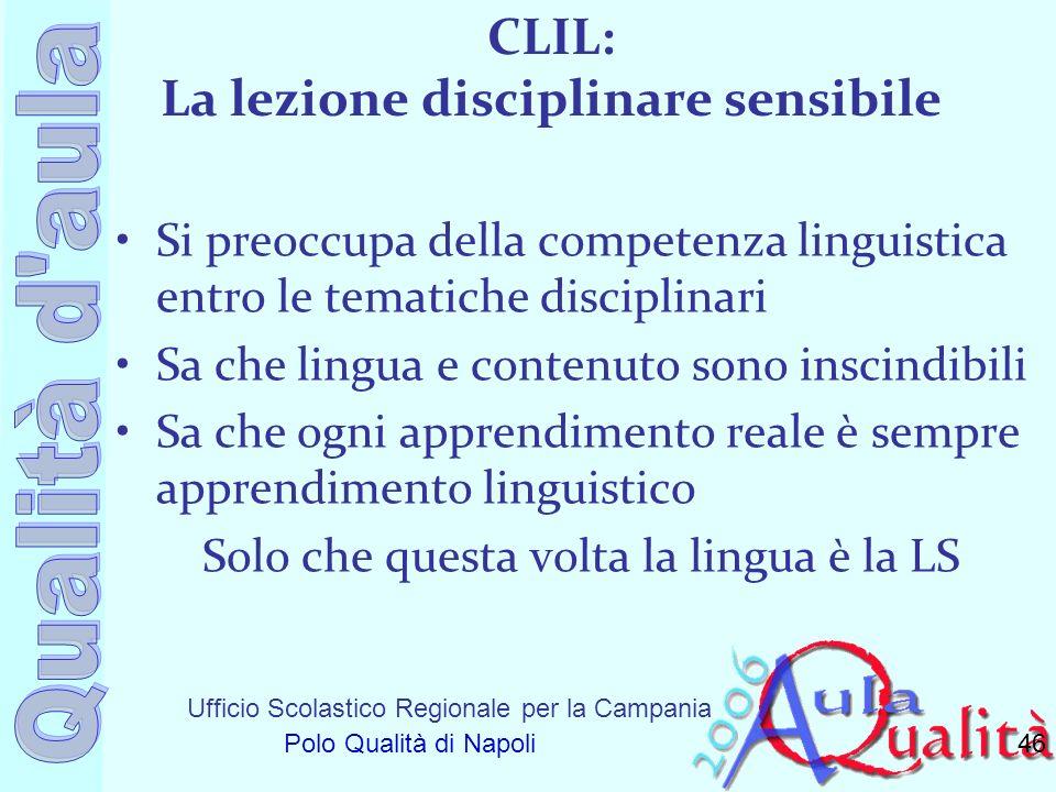 CLIL: La lezione disciplinare sensibile