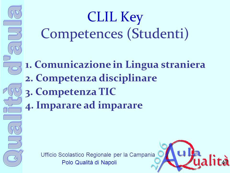 CLIL Key Competences (Studenti)