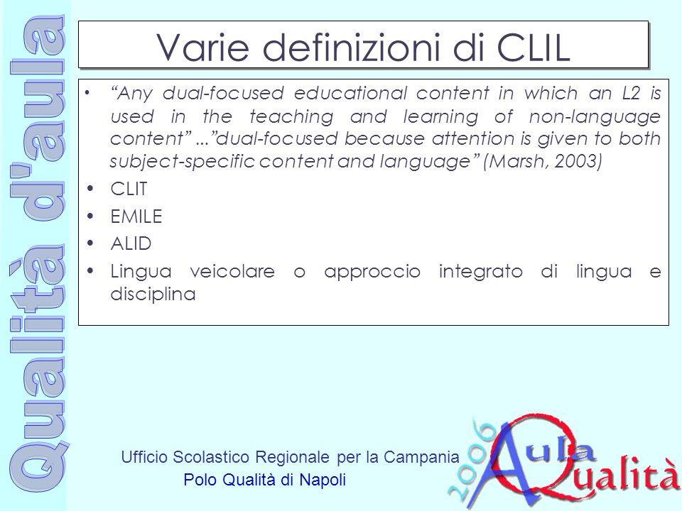 Varie definizioni di CLIL