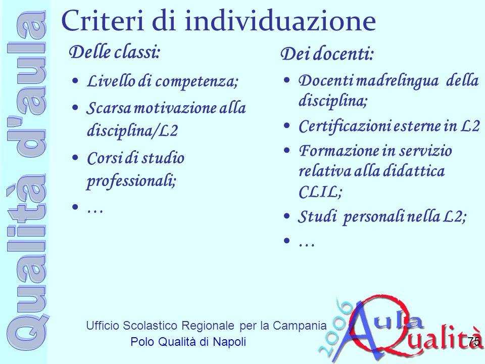 Criteri di individuazione