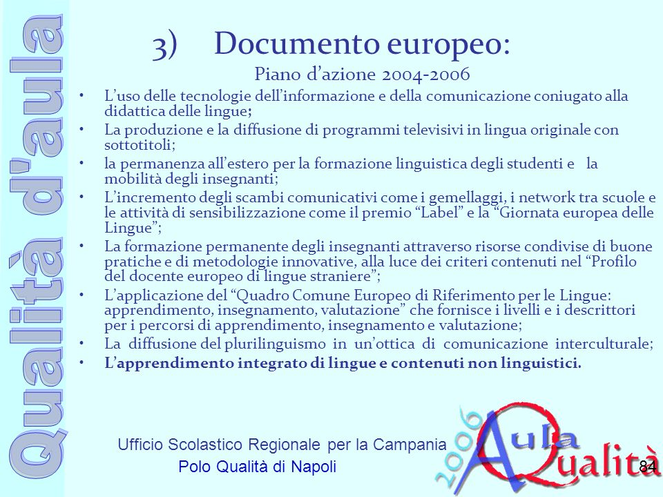 Documento europeo: Piano d'azione 2004-2006