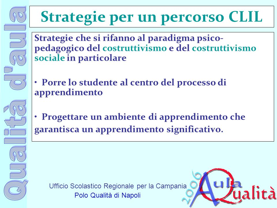 Strategie per un percorso CLIL
