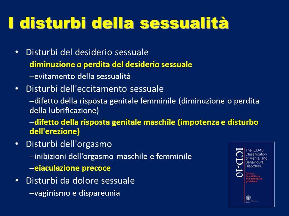I disturbi della sessualità