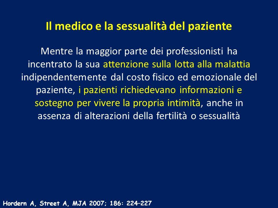 Il medico e la sessualità del paziente