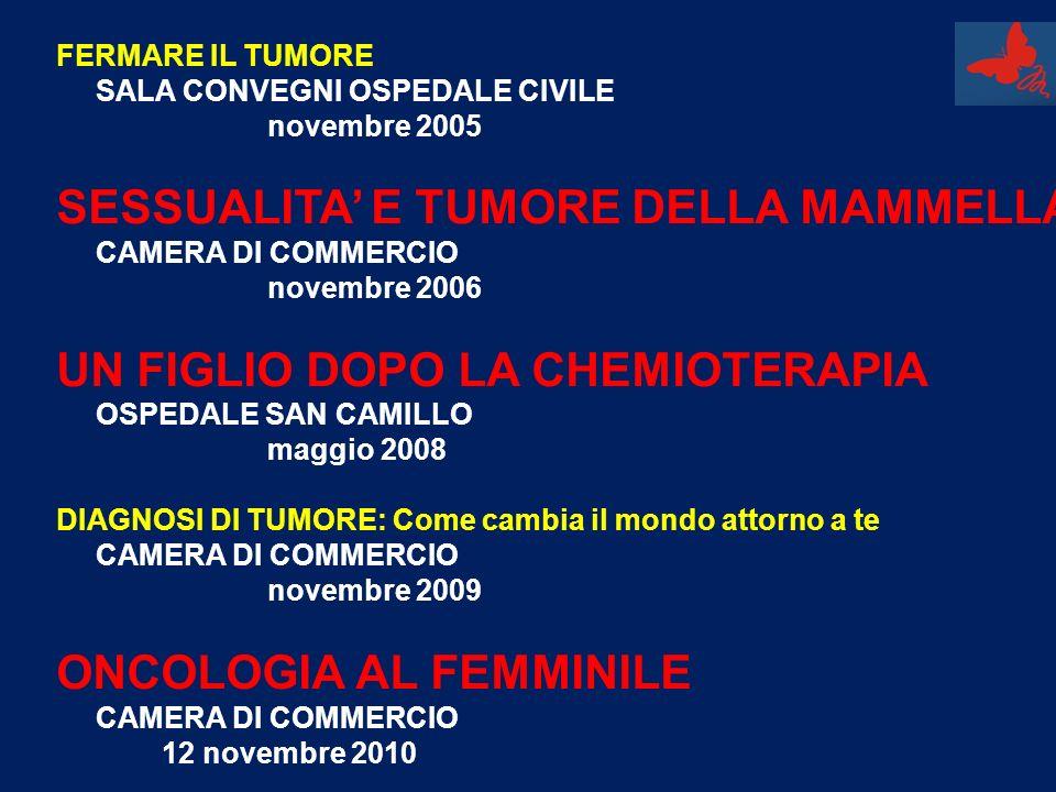 SESSUALITA' E TUMORE DELLA MAMMELLA