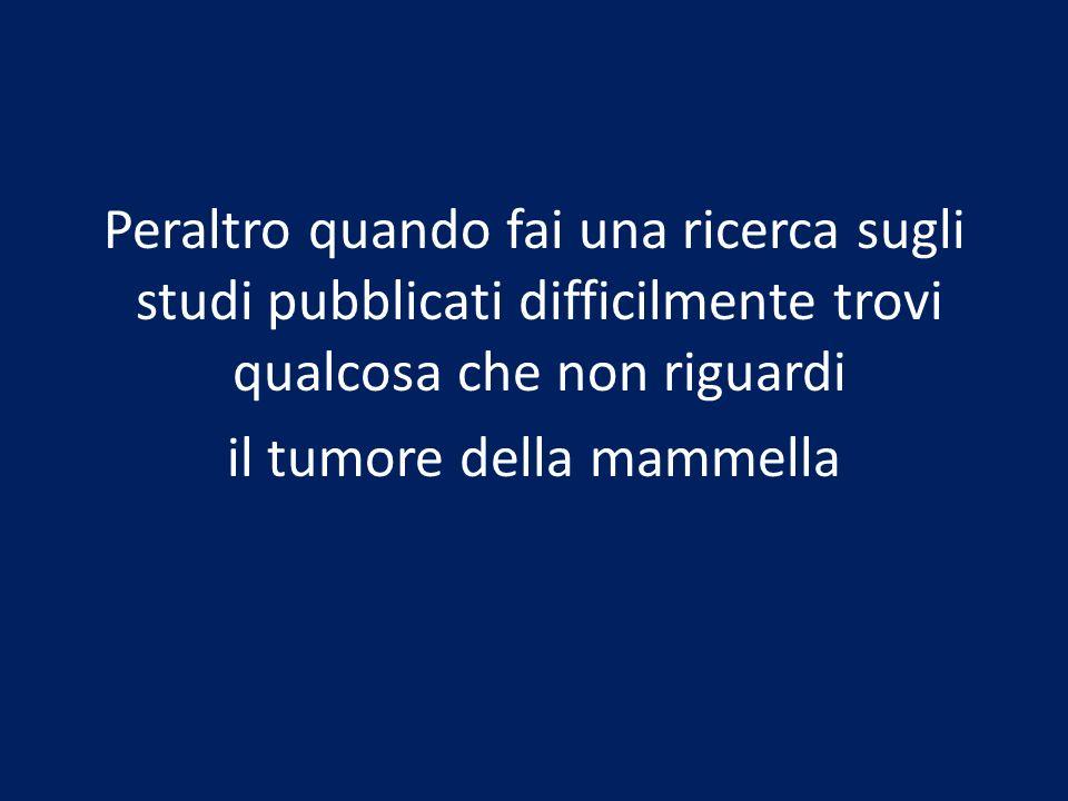 il tumore della mammella