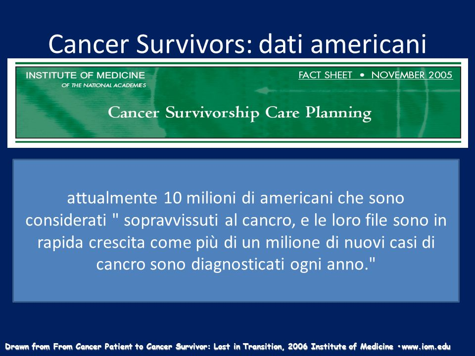 Cancer Survivors: dati americani