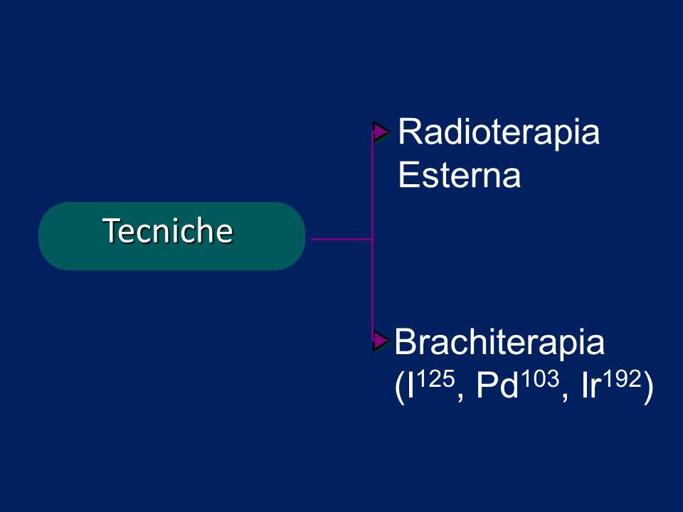 Radioterapia Esterna Tecniche Brachiterapia (I125, Pd103, Ir192)