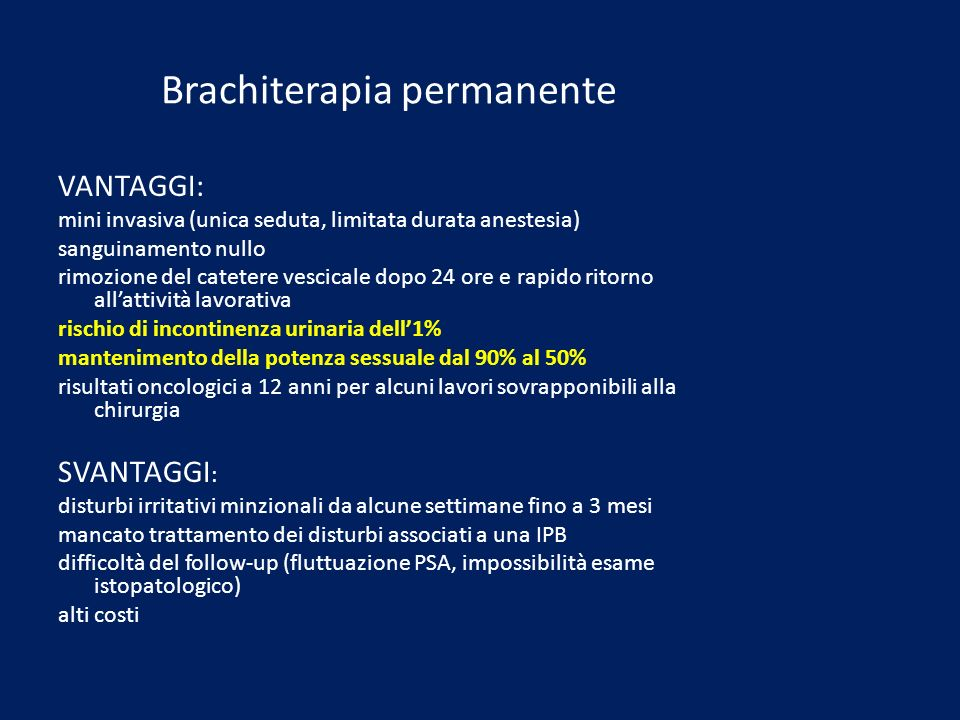 Brachiterapia permanente