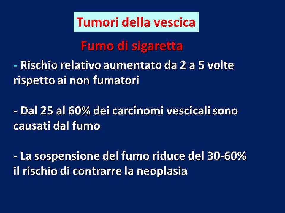 Tumori della vescica Fumo di sigaretta