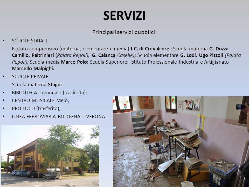 Principali servizi pubblici:
