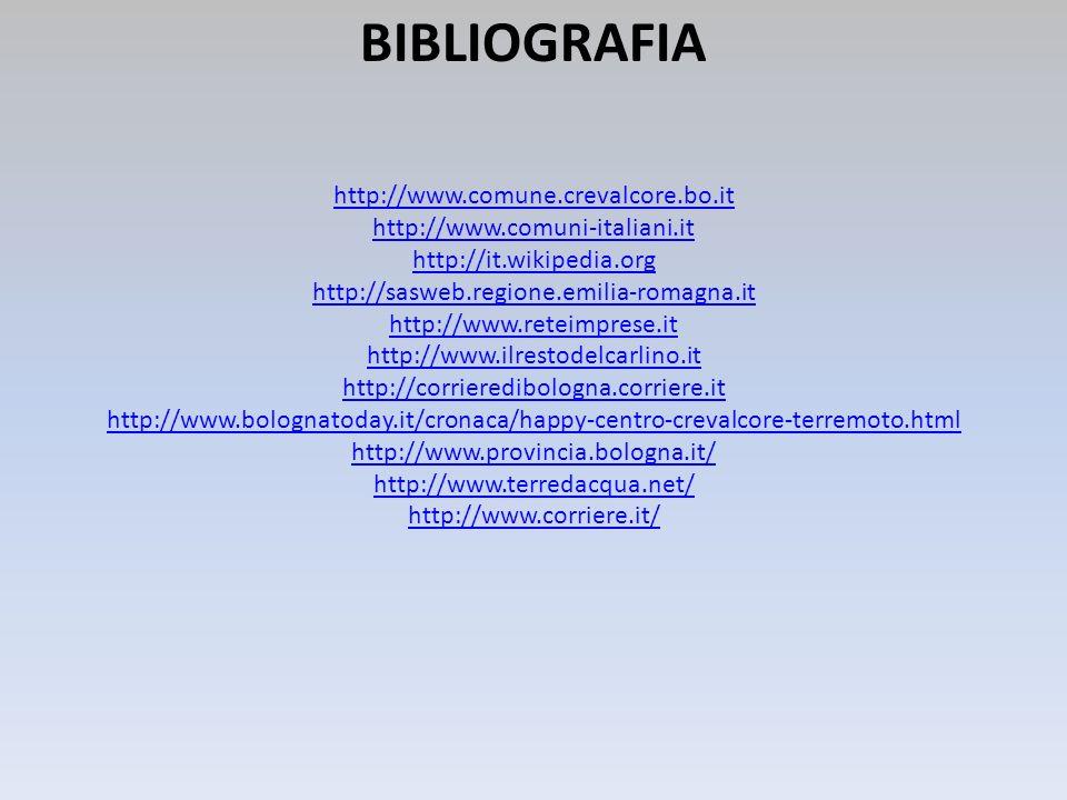 BIBLIOGRAFIA http://www.comune.crevalcore.bo.it