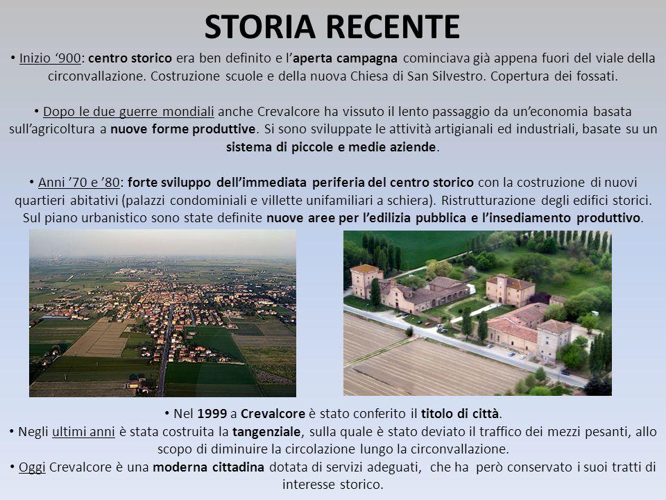 Nel 1999 a Crevalcore è stato conferito il titolo di città.