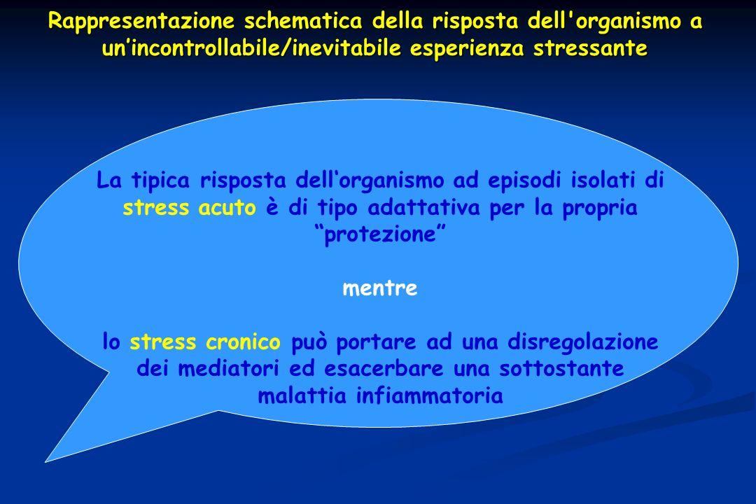 Rappresentazione schematica della risposta dell organismo a un'incontrollabile/inevitabile esperienza stressante