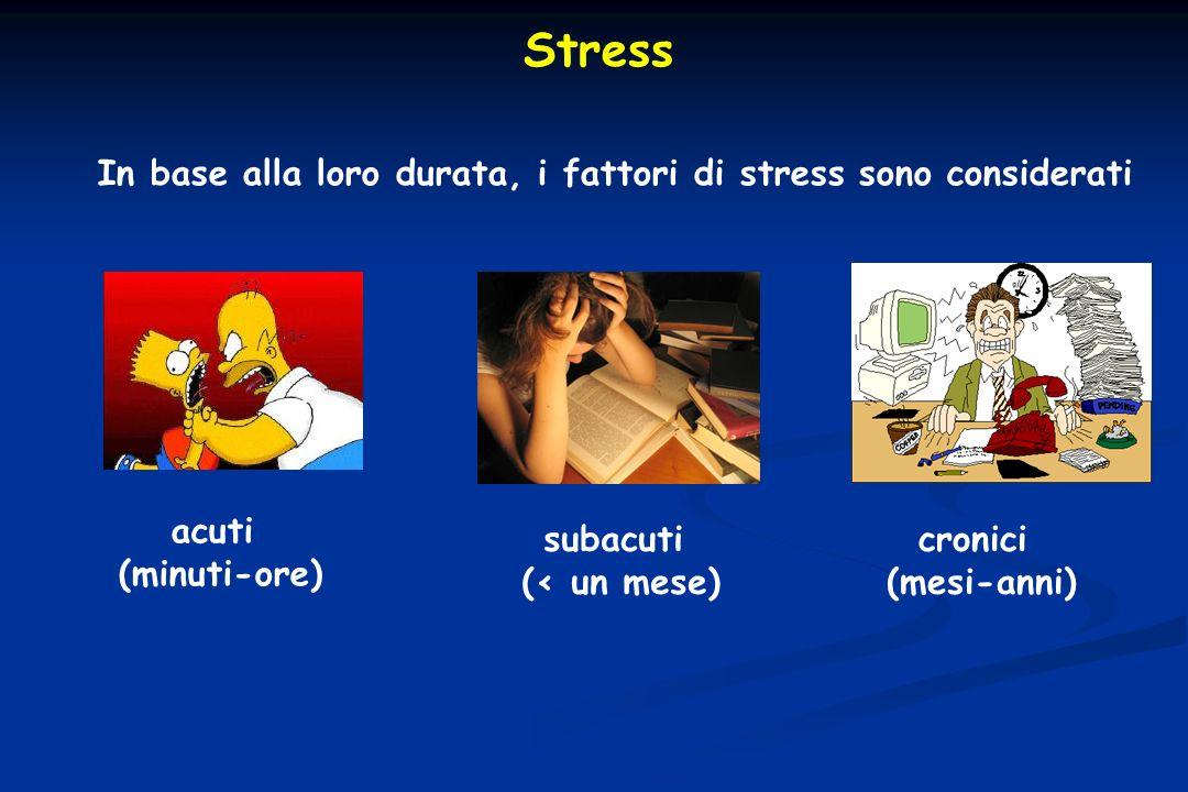 Stress In base alla loro durata, i fattori di stress sono considerati