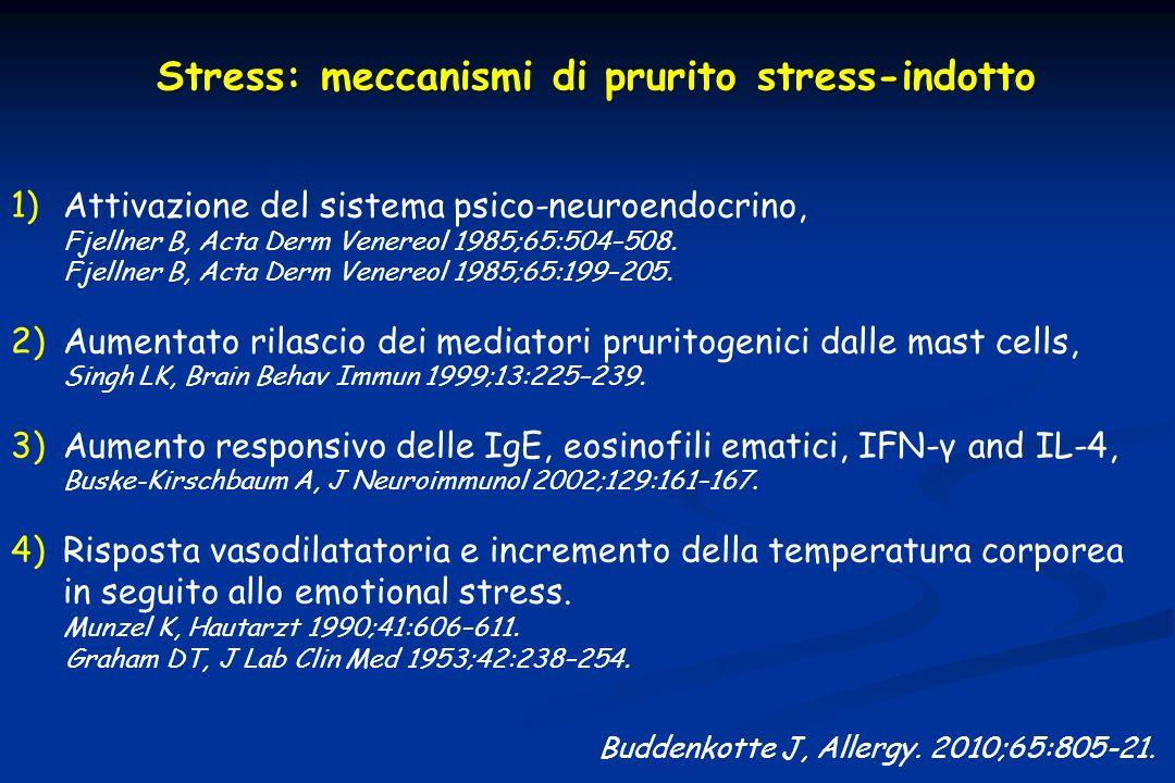 Stress: meccanismi di prurito stress-indotto