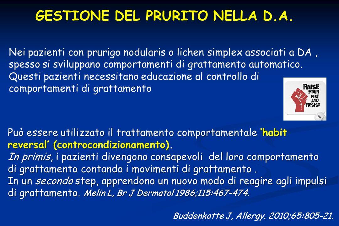 GESTIONE DEL PRURITO NELLA D.A.