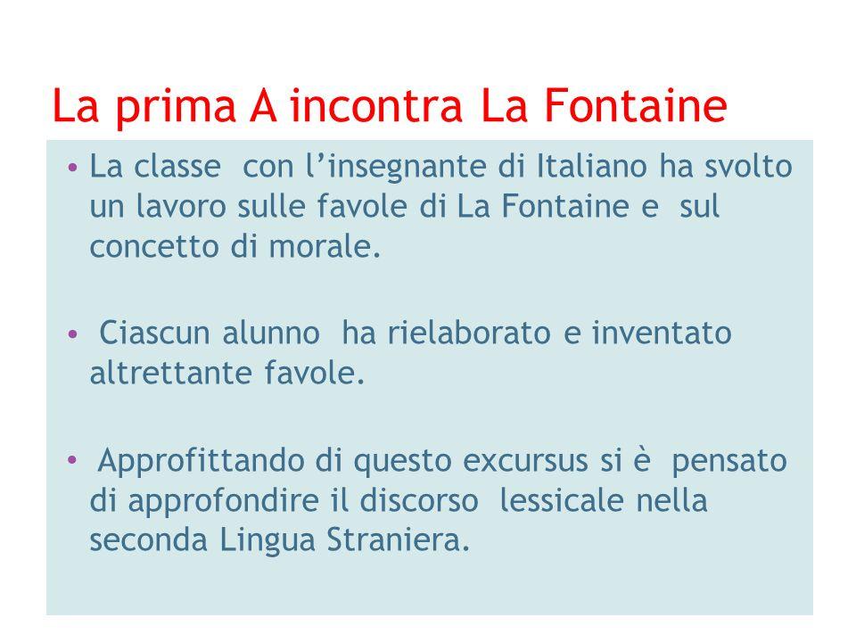 La prima A incontra La Fontaine