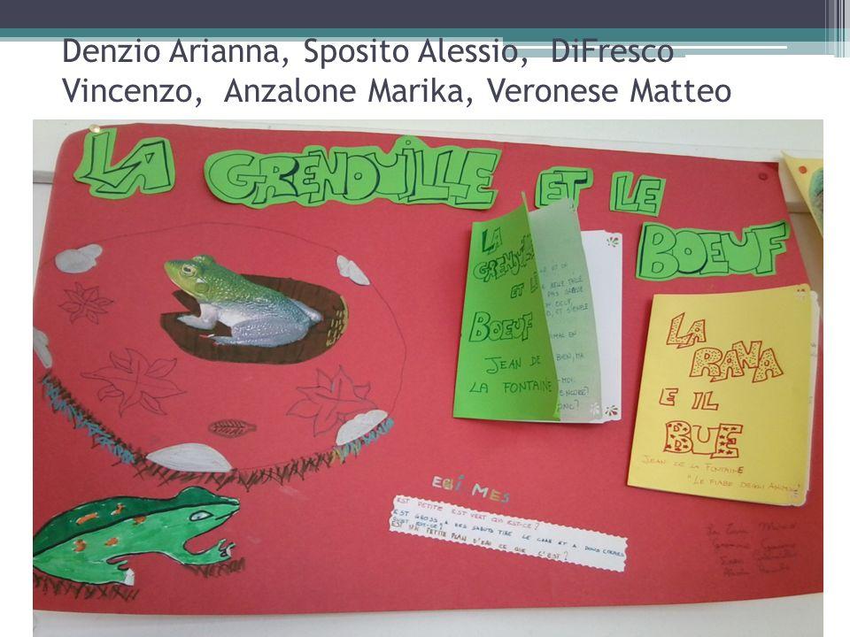 Denzio Arianna, Sposito Alessio, DiFresco Vincenzo, Anzalone Marika, Veronese Matteo