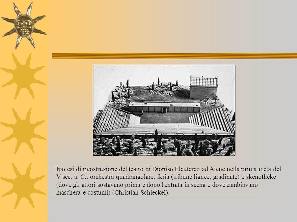 Ipotesi di ricostruzione del teatro di Dioniso Eleutereo ad Atene nella prima metà del V sec.