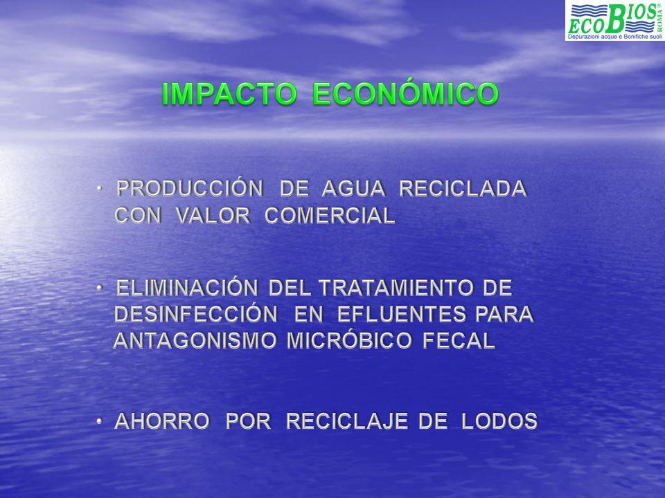 IMPACTO ECONÓMICO PRODUCCIÓN DE AGUA RECICLADA CON VALOR COMERCIAL