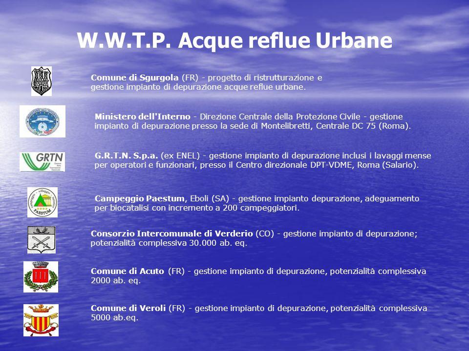 W.W.T.P. Acque reflue Urbane