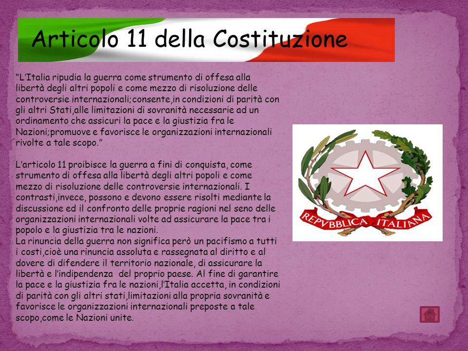 Articolo 11 della Costituzione