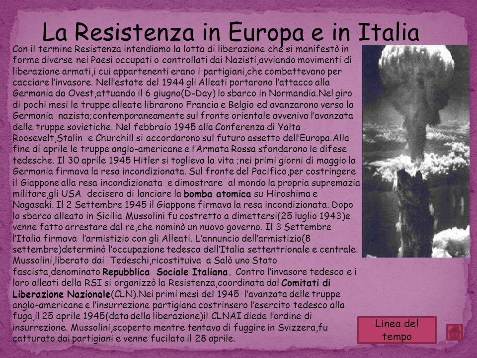 La Resistenza in Europa e in Italia
