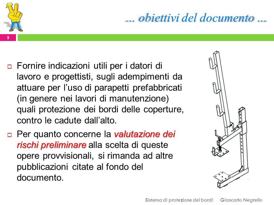 … obiettivi del documento …
