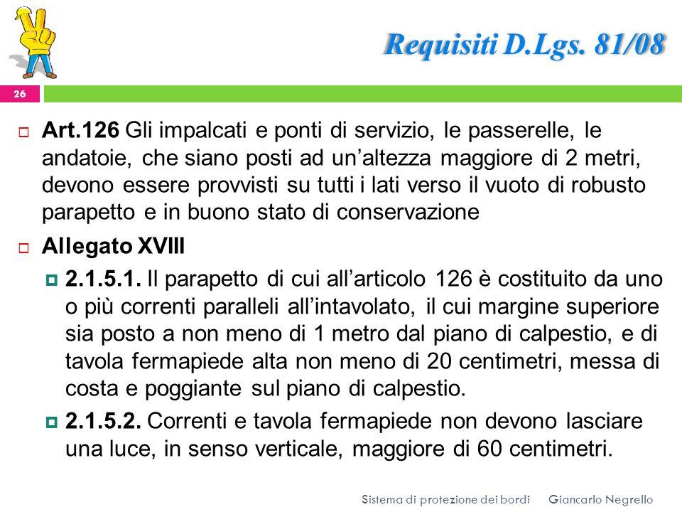Requisiti D.Lgs. 81/08