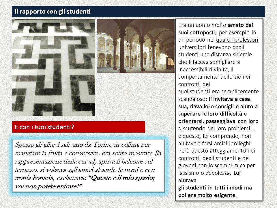 Il rapporto con gli studenti