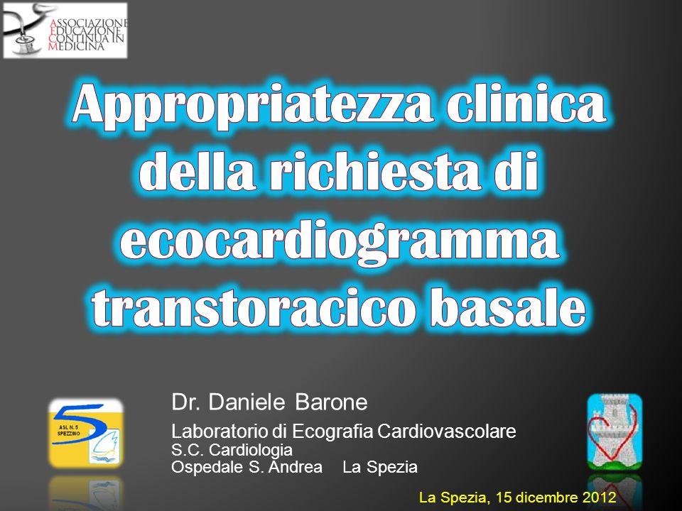 Appropriatezza clinica della richiesta di ecocardiogramma