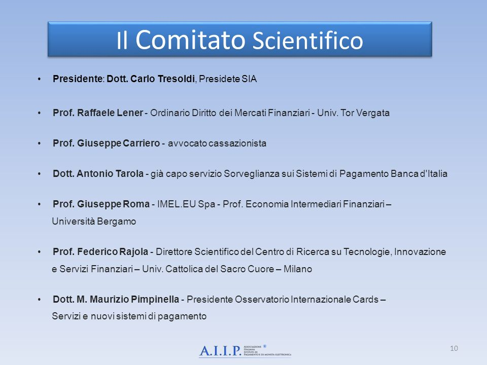 Il Comitato Scientifico