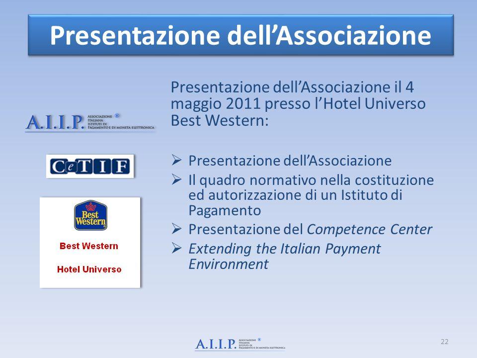 Presentazione dell'Associazione