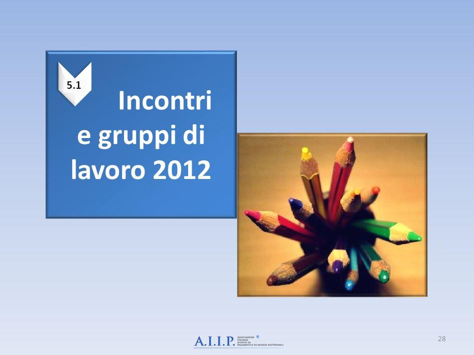 Incontri e gruppi di lavoro 2012