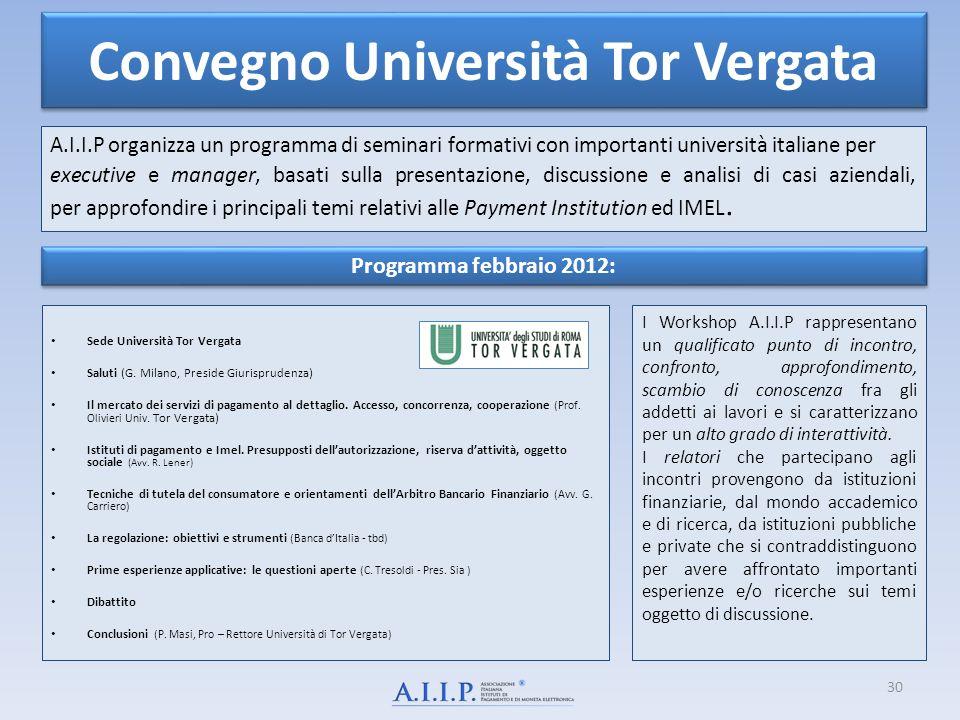 Convegno Università Tor Vergata