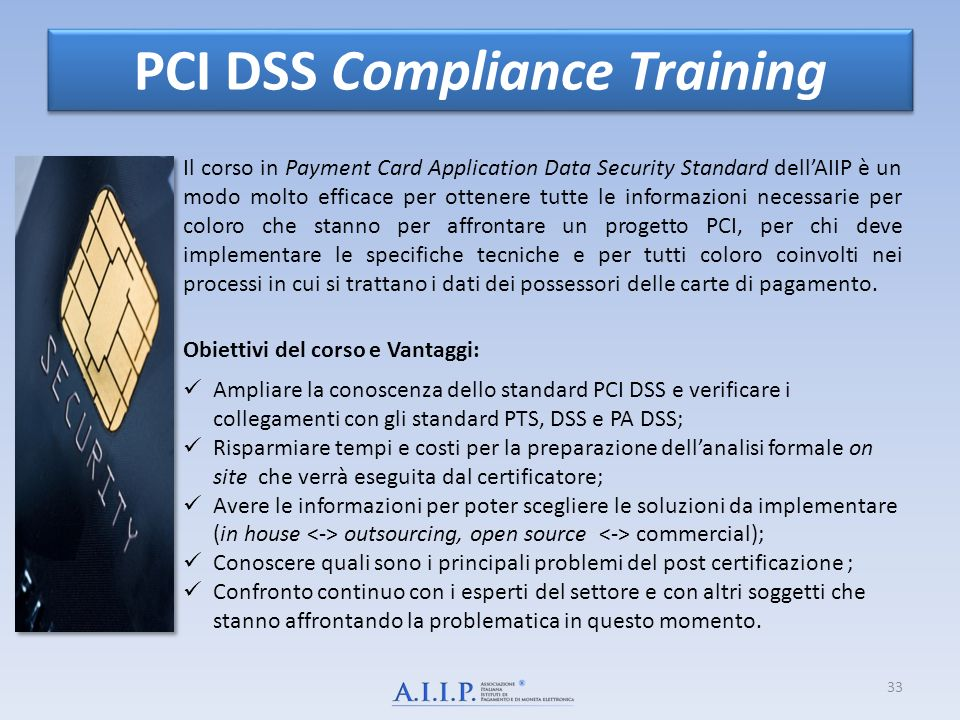 PCI DSS Compliance Training