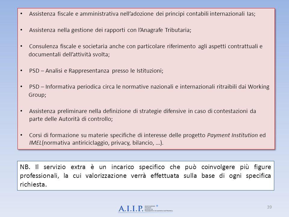 Assistenza fiscale e amministrativa nell'adozione dei principi contabili internazionali Ias;