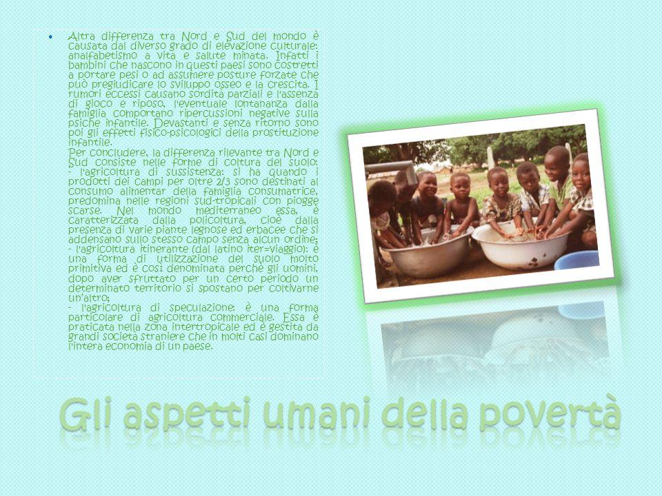 Gli aspetti umani della povertà