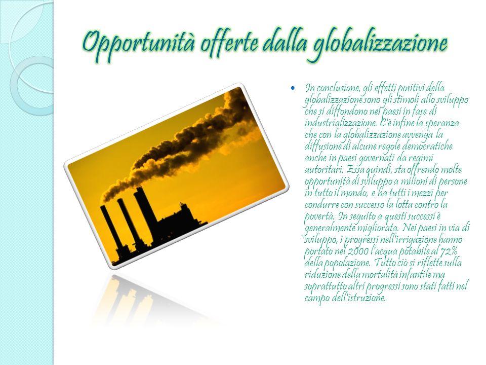 Opportunità offerte dalla globalizzazione