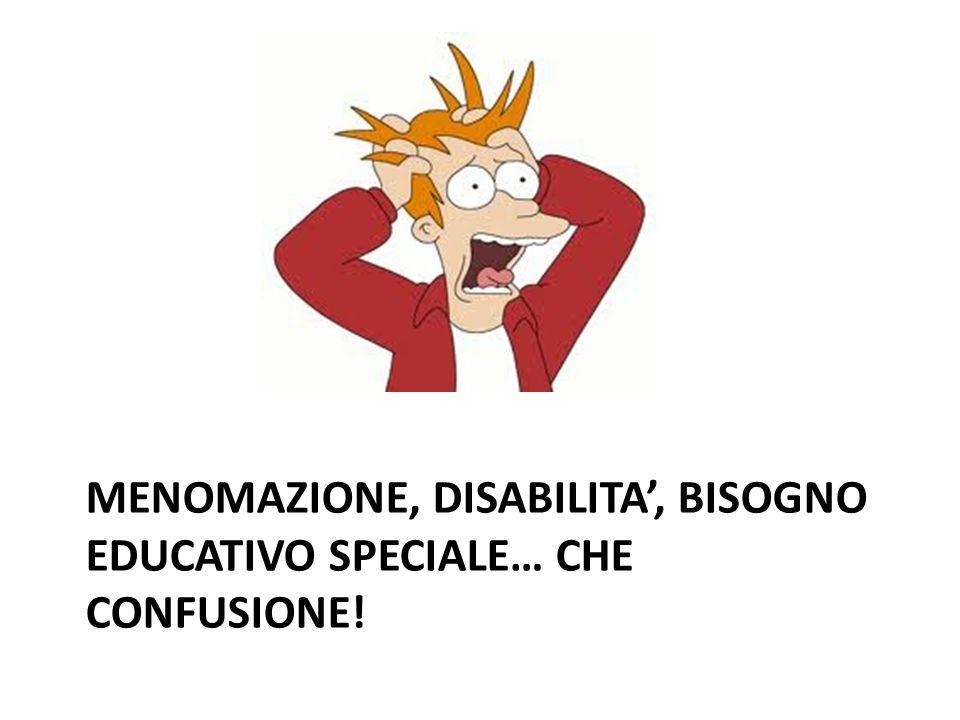 Menomazione, disabilita', bisogno educativo speciale… che confusione!