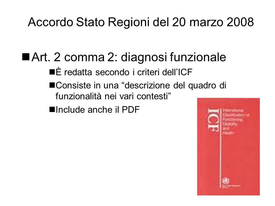 Accordo Stato Regioni del 20 marzo 2008