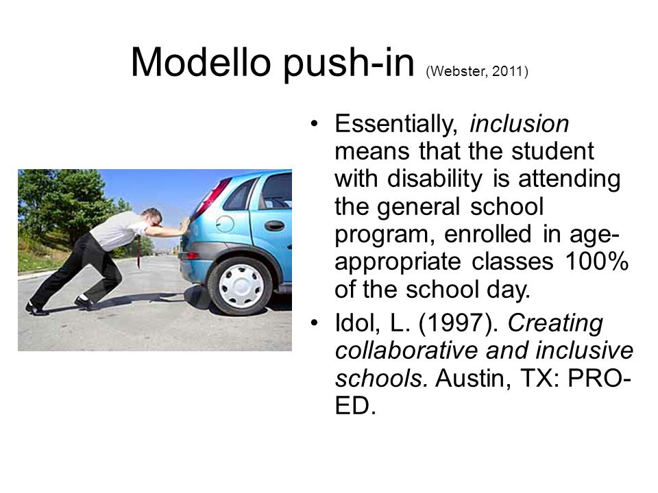 Modello push-in (Webster, 2011)